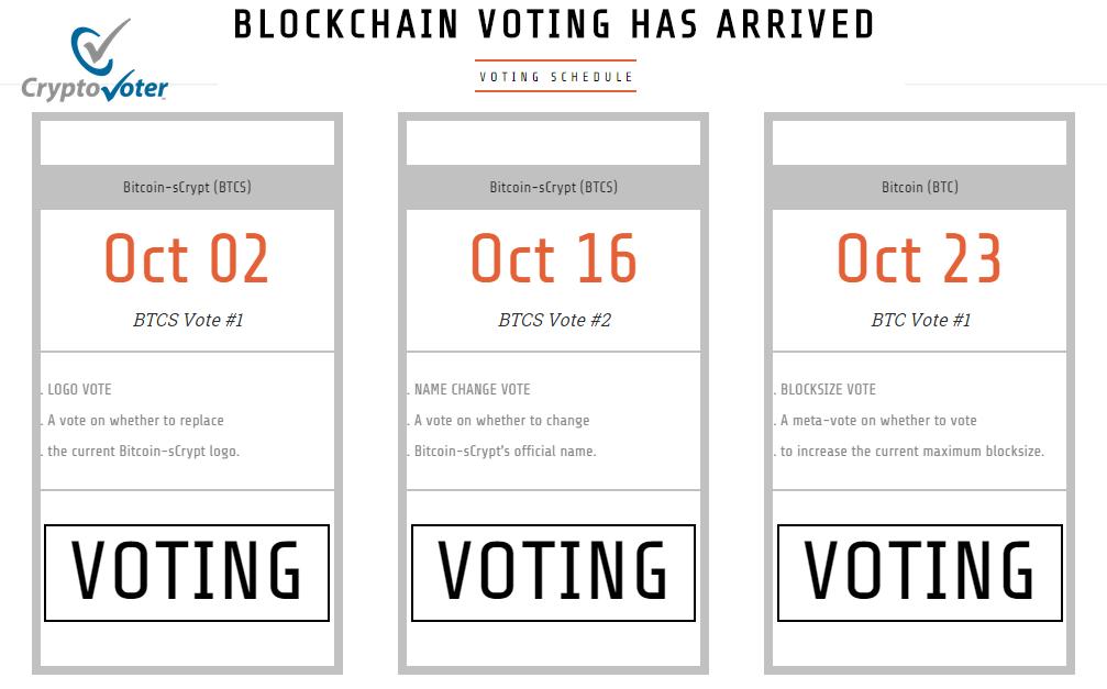 Voting Schedule