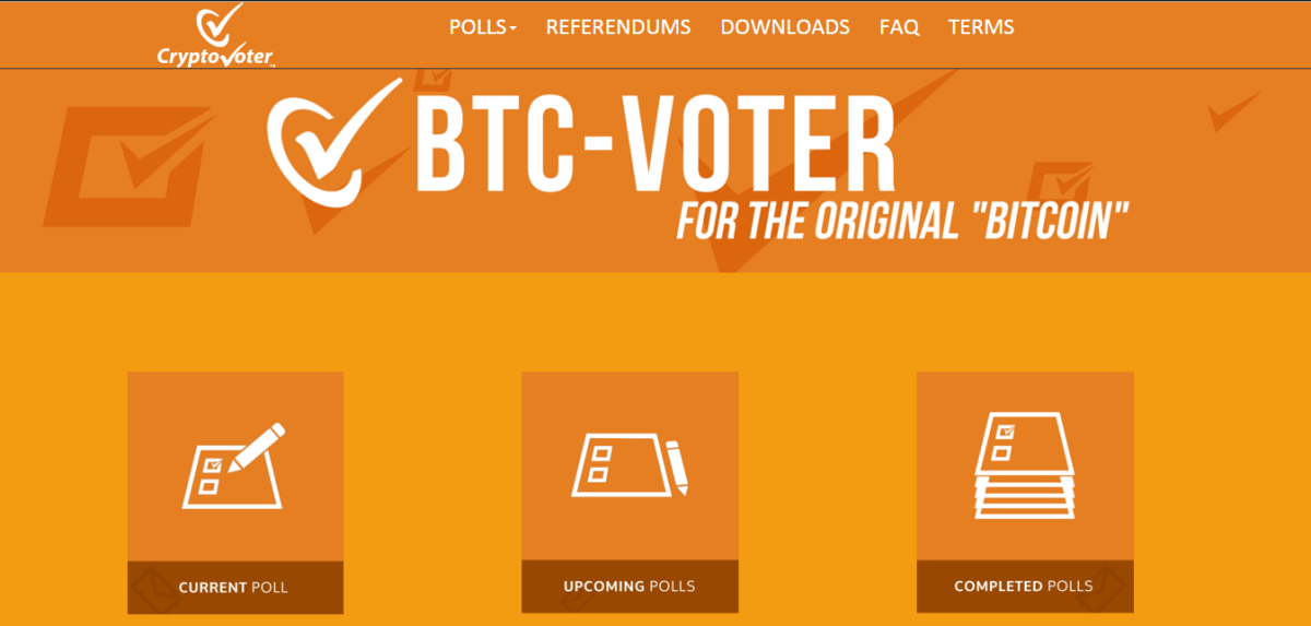 Launch of CryptoVoter-BTC Voting Client and Voting Website